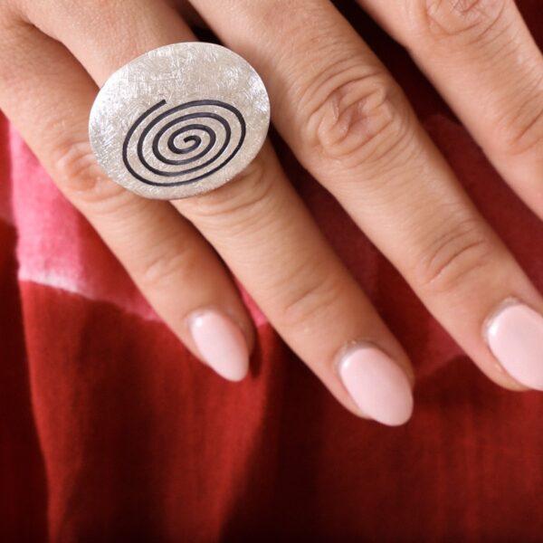 anillo_plata de ley_espiral_alzheimer_seyart_2
