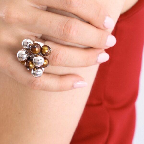 anillo_plata de ley_perla_chocolate_seyart_2