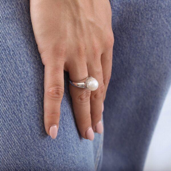 anillo_plata de ley_perla_circonitas_bola_seyart_2