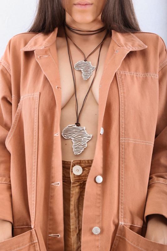 collar_acero_africa_cebra_cordon_marron_negro_seyart_3