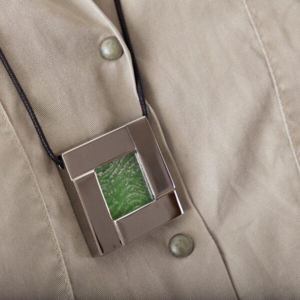 collar_acero_cristal_cuadrado_verde_seyart_2