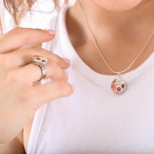 collar_hippie_plata de ley_redondo_colores_cadena de plata_seyart_2