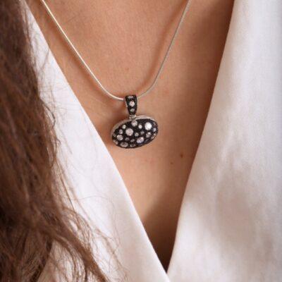 collar_negro_platade ley_circonitas_cadena de plata_seyart_5