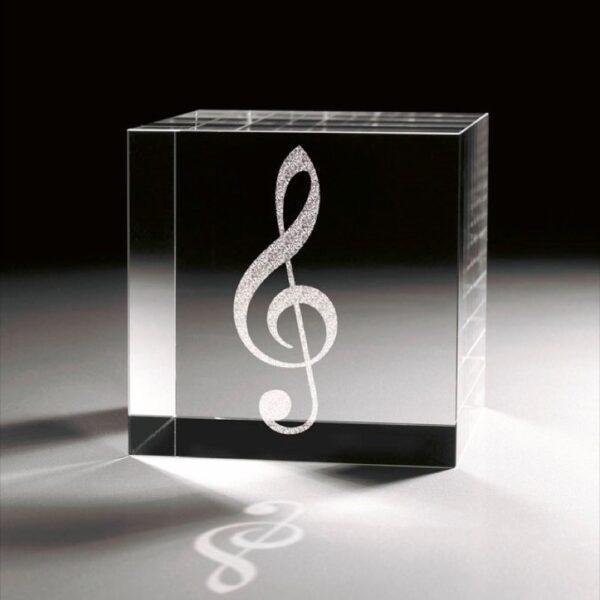 cristal_cubo_regalo_personalizado_grabado laser_musica_clave de sol_seyart