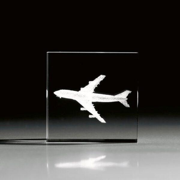 cristal_cubo_regalo_personalizado_grabado laser_transportes_avion_seyart