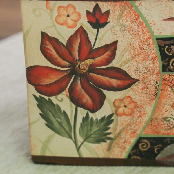 jarron_decorativo_ceramica_beige_marron_flores_cuadrado_japones_seyart_2