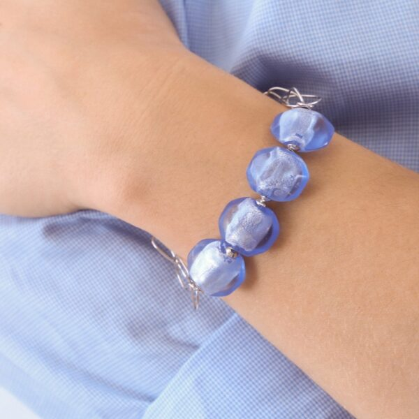pulsera_plata de ley_cristal de murano_azul_seyart_2