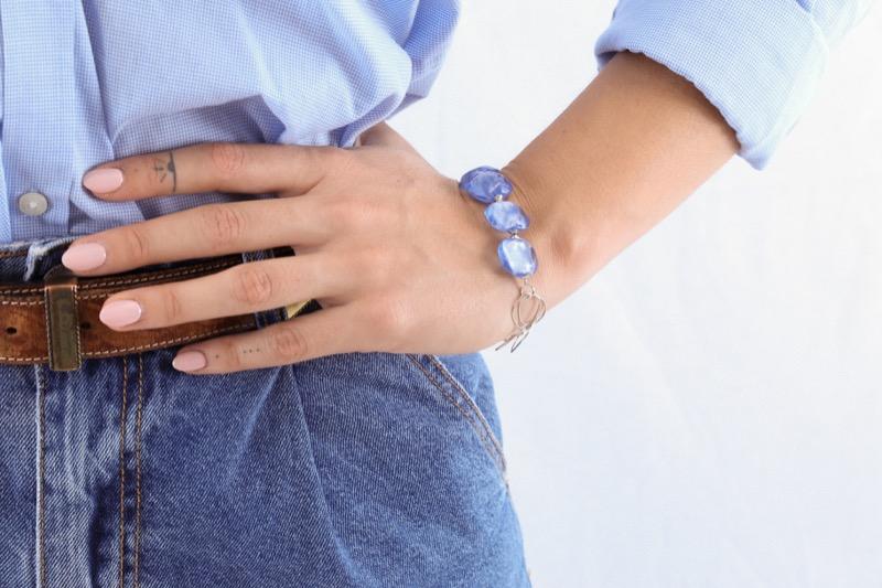 pulsera_plata de ley_cristal de murano_azul_seyart_3