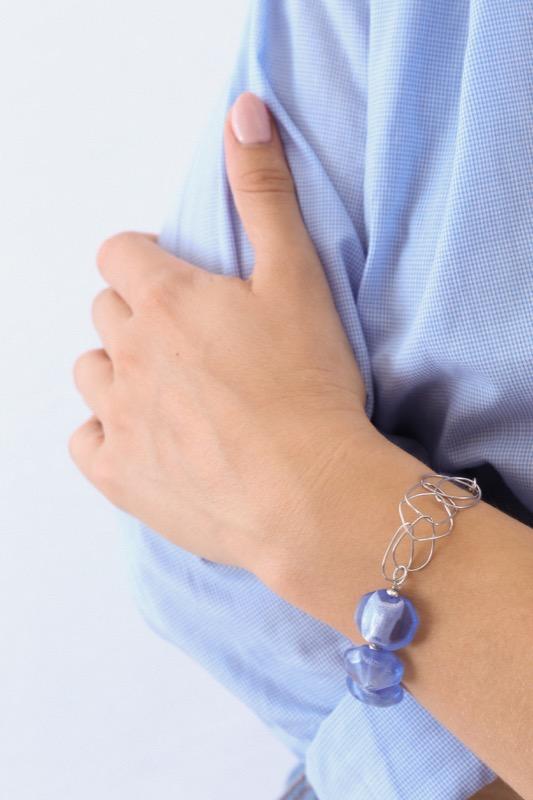 pulsera_plata de ley_cristal de murano_azul_seyart_6