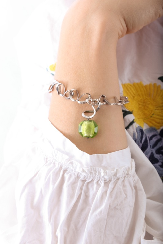 pulsera_plata de ley_cristal de murano_verde_seyart_5