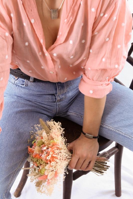 pulsera_plata de ley_cuero_cabello_placa_joyeria de autor_seyart_3